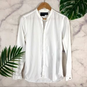 THE KOOPLES Button Down White Fitted Shirt | Small